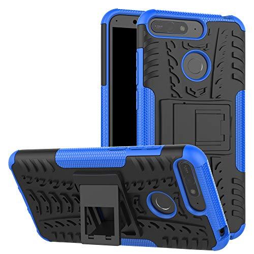 betterfon | Outdoor Handy Tasche Hybrid Hülle Schutz Hülle Panzer TPU Silikon Hard Cover Bumper für Huawei Y6 (2018) Honor 7A Blau