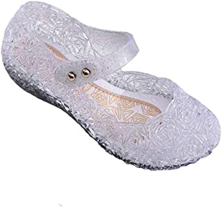 Baby Girls Mary Jane Jelly Bird Nest Cosplay Shoes for Kids Toddler Girls Shoes (8M US Toddler, White-B)