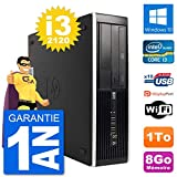 HP PC Compaq 6200 Pro SFF Intel i3-2120 RAM 8Go Disque Dur 1To Windows 10 WiFi (Reconditionné)