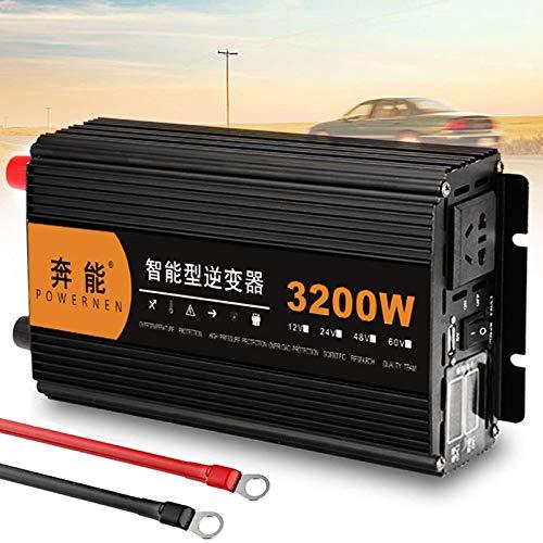 J-Love Inversor automático de Onda sinusoidal Pura 3200W 4000W 5000W 6000W 8000W 9000W 12000W 15000W Convertidor de Voltaje DC 12V/24V a AC 220V 230V 240V Inversores para Camping
