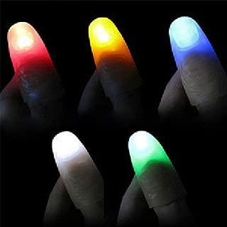 WSNMING Magic Light up Finger Magic Trick, LED Finger Lamp, Red Thumbs Light, Magic Light up Finger Magic Trick, Fake Finger, Prank Toy Tool