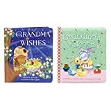 2-Pack Padded Board Books: Grandma's Wishes & Grandma's Kitchen, Gifts for Mother's Day, Grandmother's Day, New Moms & Grandmas, Birthdays, Holidays, Ages 1-5