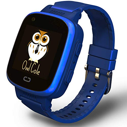 2021 Best 4G GPS Tracker Unlocked Wrist Smart Phone Watch for Kids with Sim Camera Video Call Fitness Tracker Birthday for Children Boys Girls iOS Android Smartphone (Blue)