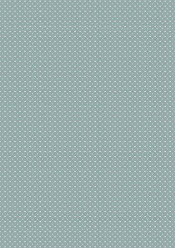 MarpaJansen Motivpapier - (DIN A4, 8 Bogen, 250 g/m²) - mattes Finish - unterschiedliche Vorder- & Rückseite - Pünktchen stein/minze