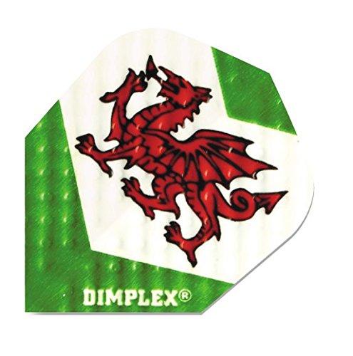 Harrows Dimplex Wales Dragon Darts Dart Zubehör Flight 10 x 3, Aufdruck