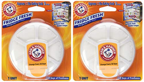 Arm & Hammer Fridge Fresh Refrigerator, 1 Count (Pack of 2)