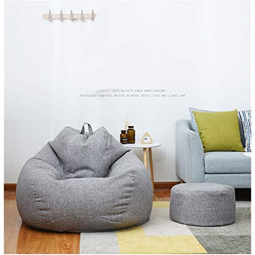 HOME-SOFA Sitzsack mit Schaumstofffüllung, groß, bequem, bequem, Tatami, maschinenwaschbar, für Wohnzimmer, Schlafzimmer, grau, 100 * 100 * 120cm(39.4 * 39.4 * 47.2')