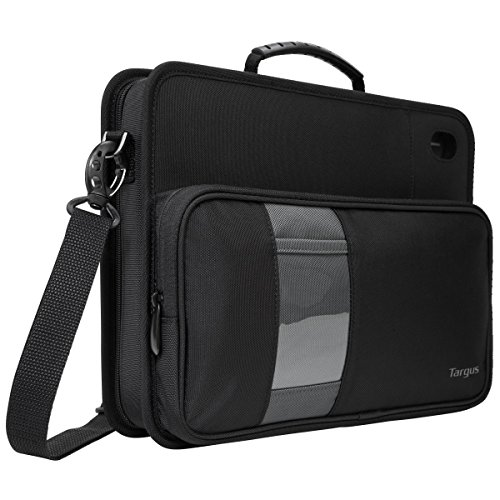 Targus Work-In Business Laptop Case Messenger Bag for Macbook/Notebook Compact Design with Front Pocket, Carrying Shoulder Strap, Protective Sleeve for 11.6-Inch Laptops, Black (TKC001D)