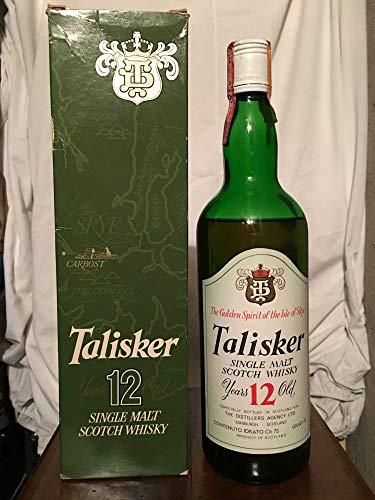 Talisker TD 12yo old bottle 1970s con estuche (nivel bajo) 75cl