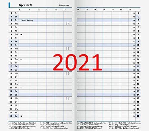 Kalendarium für Brunnen 750 Taschenkalender Einlage für Monats-Sichtkalender 750 Ersatzkalendarium 2 Seiten = 1 Monat 2021