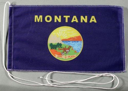 Montana USA Bundesstaat 15x25 cm Tischflagge in Profi - Qualität Tischfahne Autoflagge Bootsflagge Motorradflagge Mopedflagge