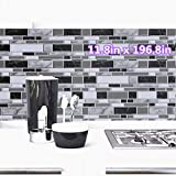 Black and White Peel and Stick Removable Wallpaper,11.8inch x...