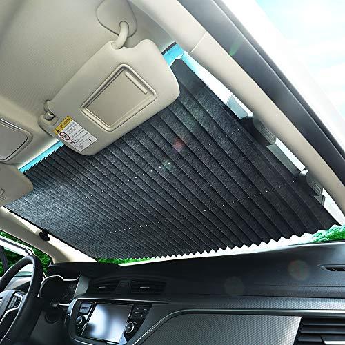Automobil-Windschutzscheibe Sonnenschutz und ausziehbarer Sonnenschutz, um das Fahrzeug kühl und einfach zu halten zu installieren und anzuwenden (geeignet für verschiedene Modelle),80cm