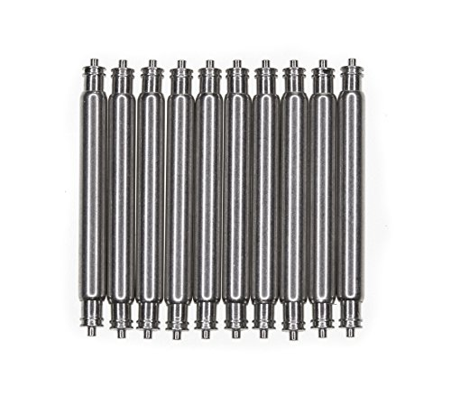 SEIKO OEM Spring Bar 10 Pcs 20mm Non-Magnetic Stainless Steel 20mm x 1.8mm x 0.8mm Double Fringe