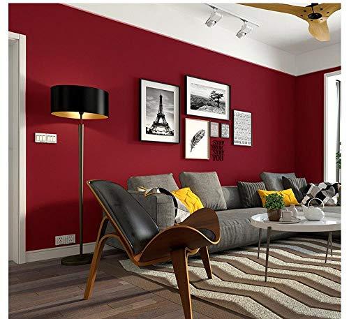 Tapete wasserfest schmutzabweisend rot tapete uni modern minimalistisch vlies seide tapeteDunkelrot0.53mx10m