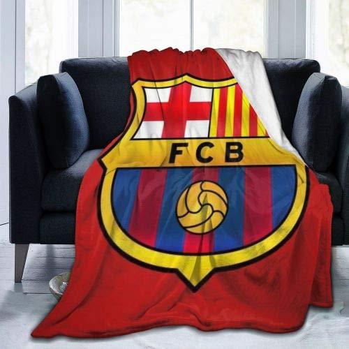N/A Franela Sherpa,Viaje Alfombra,Manta De La Siesta,Manta De Felpa,FC Barcelona Mantas De Tiro Ligeras Manta De Cama Manta De Sofá Funda De Sofá para Exterior/Interior S