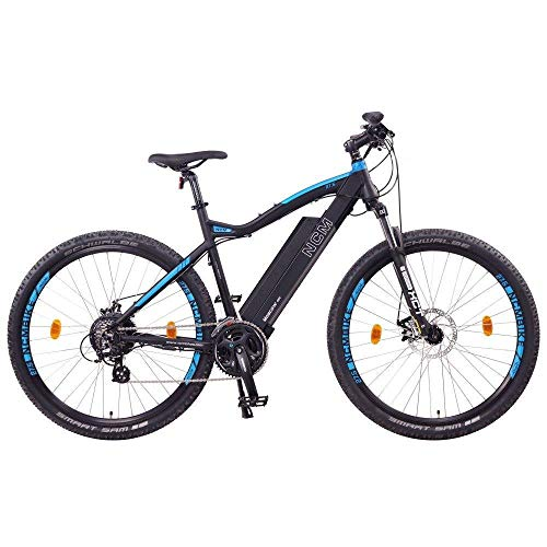 'NCM Moscow 48 V 27.5 '/29 inch 250 W Kit Rear Engine, Electric Mountain Bike MTB E-bike 13Ah 624WH with Li-Ion Battery, Mechanical Tektro Disc Brakes, 21 Speed Shimano Gear, 29' Schwarz