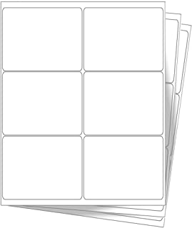 6000 EcoSwift Shipping Labels 4 x 3 1/3 inches Mailing Address Blank White Self Adhesive for Laser Inkjet Printer 4 x 3.33