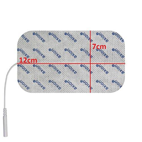 2 Stück Elektroden / Pads 120x70mm gross, für TENS – EMS – Reizstromgerät mit 2mm-Anschluss. - 3