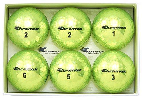 Chromax Golfbälle Metallic M5, bunt - 6 Stück, BCM56-GRN, grün
