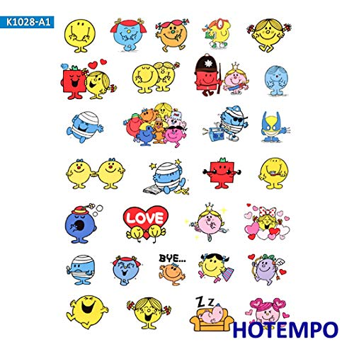 Mr. Men Little Miss Cartoon Stickers for Girl Children Kids Gift DIY Letter Diary Scrapbooking Stationery Pegatinas Stickers