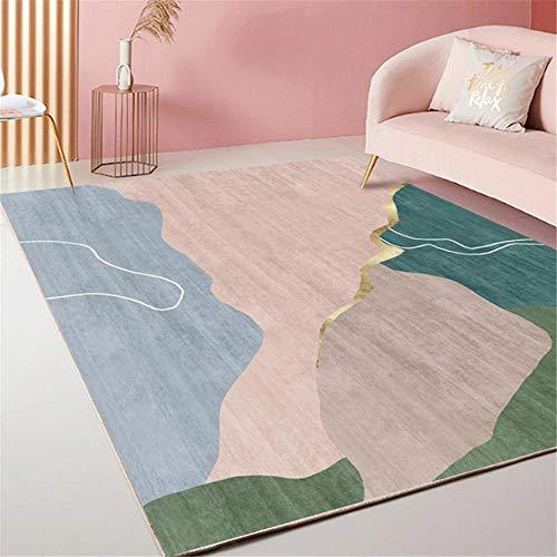 Xiaosua Lichtbeständig Anti-Staub Teppich Stilvoller minimalistischer Abstrakter geometrischer...