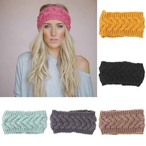 GuGio Women Knitted Headband Winter Warm Head Wrap Wide Hair Accessories(1pc)