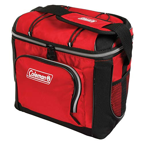Coleman 16-Can Soft Cooler with Removable Liner, Red