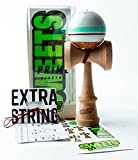 Sweets Kendamas Prime Sport Stripe Kendama - Sticky Paint, Stripe Design, Extra String Accessory Gift Bundle (Avalanche)