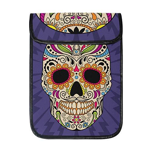 DragonSwordlinsu COOSUN Kleur Mexicaanse schedel Laptop Tablet Sleeve iPad Pro Case Kussen Beschermende Mouwhoes Case voor Apple iPad Pro 12.9 Inch