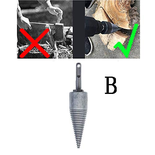Best Price Azcczzii Firewood Drill Bit Wood Splitter Drill Bit Screw Cone Kindling Firewood Splitter...