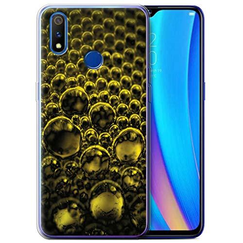 eSwish Gel TPU hoes/case voor Realme 3 Pro/X Lite/geel patroon/blazen/druppeltjescollectie