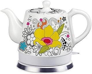 FixtureDisplays Teapot, Ceramic, Teamaker, Large Yellow Flower 12039!