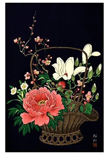 Mand met Bloemen Japanse Verjaardagskaart