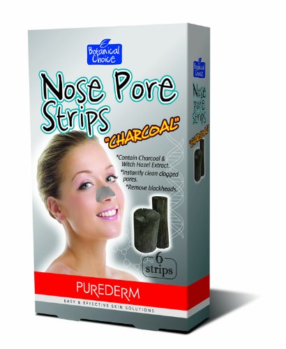 Purederm Botanical Choice Nose Pore Strips - Charcoal 6 Strips by Purederm
