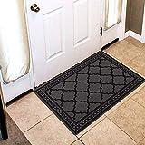 Carvapet Felpudo de Entrada Alfombras Antideslizantes Lavable Alfombrilla Interior y Exterior Alfombra de Entrada de Corredor para Cocina Oficina Pasillo Dormitorio (Gris,50X80CM)
