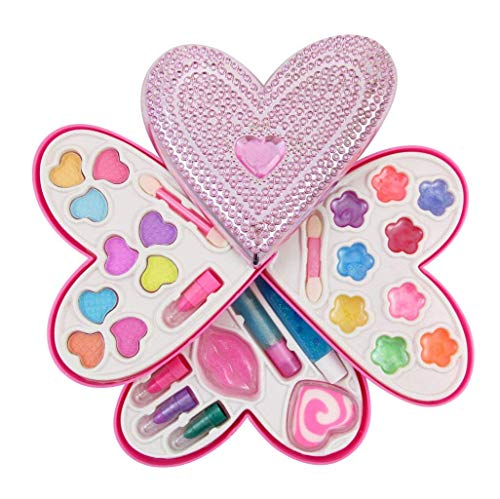 Product Image of the Liberty Imports Petite Girls Heart Shaped Cosmetics Play Set - Fashion Makeup...
