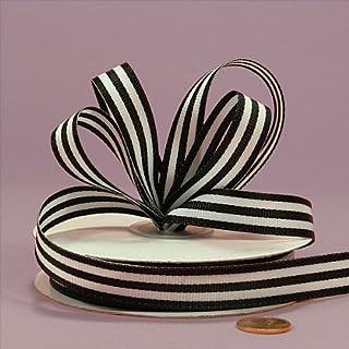 "Black Jenna Striped Grosgrain Ribbon, 5/8"" X 25Yd"