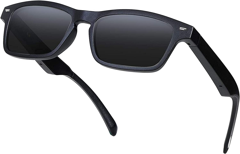 ERUN Smart Glasses UV400 Polarized Audio Sunglasses Music Headset Speaker Sunglass , Wireless Bluetooth Glasses Open-Ear Hands-Free Calling Sunglasses for Men & Women