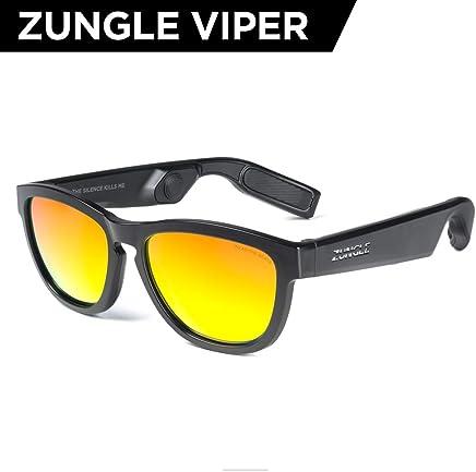 ZUNGLE V2 : Viper, Lentes de sol con audífonos 5.0 Bluetooth de conducción de hueso inalámbricos de oreja abierta, para hombre, micrófono integrado, música, llamadas telefónicas, asistencia AI