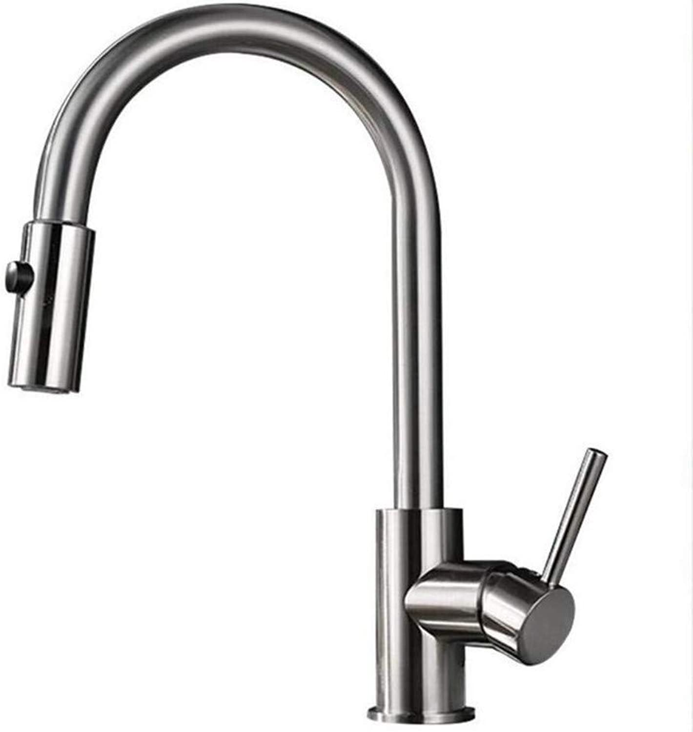 Kitchen Brass Retrobathroom Sink Taps All Copper Kitchen Faucet Cold and Hot Pull Out Faucet Sink Kitchen Faucet