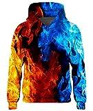 Goodstoworld Felpa Ragazza Ragazzo con Cappuccio Felpa Stampa 3D Colorata Pullover Invernale Leggere Fantasia 5-6 Anni
