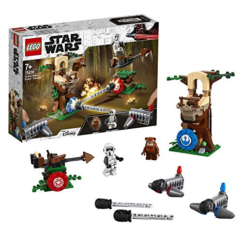 LEGO Star Wars Action Battle Assalto a Endor, Gioco per Bambini, Multicolore, 262 x 191 x 61 mm , 75238