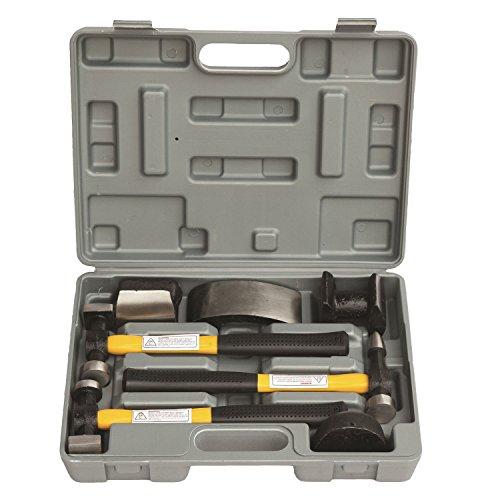 HFS (R) 7 Pcs Set Auto Body Fender Repair Tool Hammer Dolly Set
