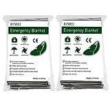 Binhai Mantas de Emergencia, Manta Térmica, Manta de Emergencia, Mantas de Emergencia 52'x 83' (2-Paquetes)