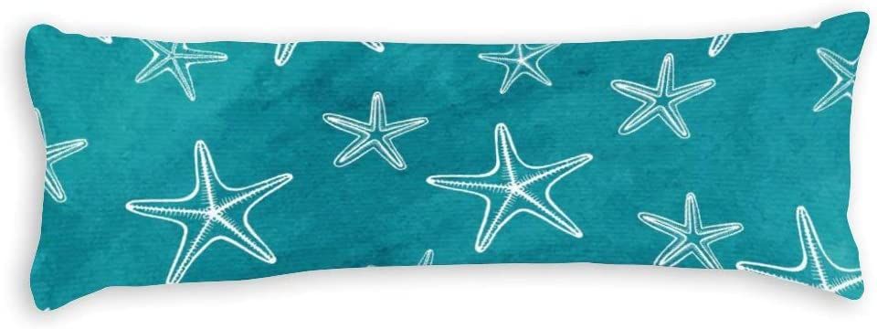 Yilooom Starfish and Max 78% OFF Blue Max 85% OFF Ocean Square Canvas Throw Pillow Cases