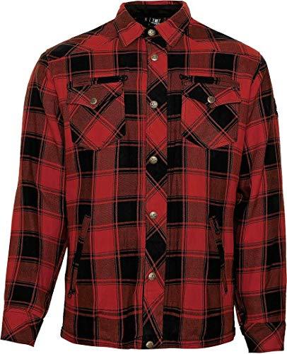BORES Kevlar Hemd Shirt LUMBERJACK Holzfällerhemd LUMBER JACK dunkelrot (XXL)