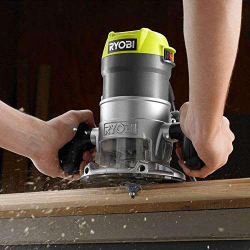 Ryobi 8.5 Amp 1-1/2 HP Fixed Base Router (Green) (Renewed) Illinois