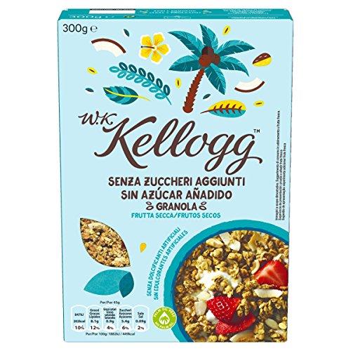 W.K Kellogg sin Azúcar Añadido Frutos Secos Cereales, 300g