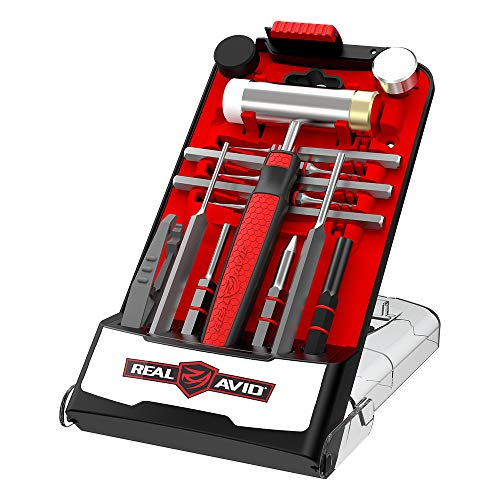 Real Avid Accu-Punch Hammer & MSR Pin Punch Set, Red (AVHPS-AR)